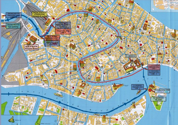 Venice Tourist Map